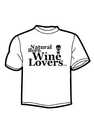 Triko Natural Born Wine Lovers - bílé - velikost L - 1ks
