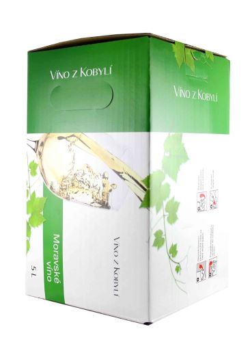 Sauvignon, Bag in Box, Jakostní odrůdové, Patria Kobylí, 5l