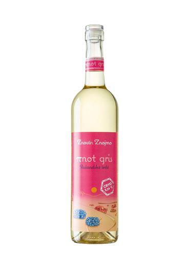Rulandské šedé, Kulaté víno πnot ~ 3,14, Pozdní sběr, 2019, Znovín Znojmo, 0.75l