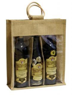Taška na víno (3 lahve) - jutová