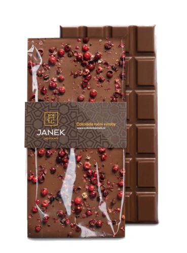 Mléčná čokoláda s pepřem, Čokoládovna Janek, 85 g