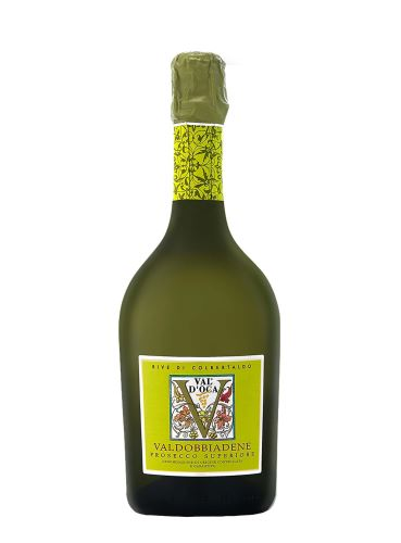 Prosecco Superiore, Rive di Colbertaldo, DOCG Valdobbiadene, Extra Dry, Val d'Oca,  0,75 l