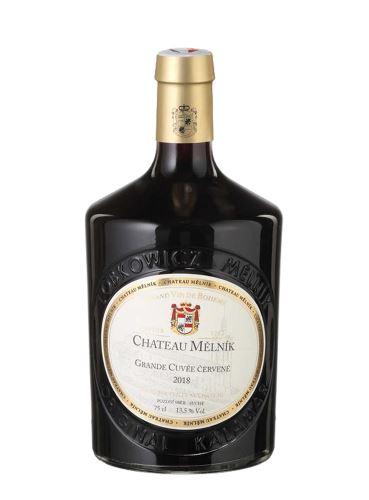 Grande Cuvée Červené, Pozdní sběr - barrique, 2018, Chateau Mělník, 0.75 l