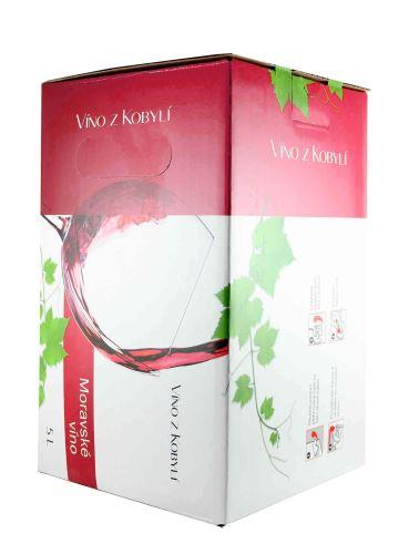 Frankovka rosé, Bag in Box, Jakostní odrůdové, Patria Kobylí, 5l