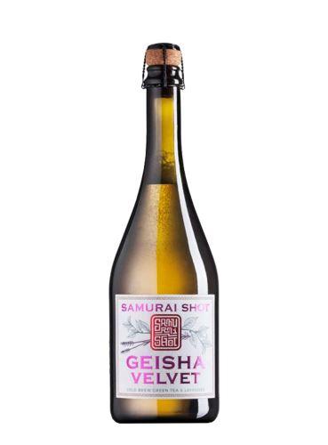 Geisha Velvet, Green tea & Levander, Nealkoholický šumivý nápoj, Samurai shot, 0,75 l