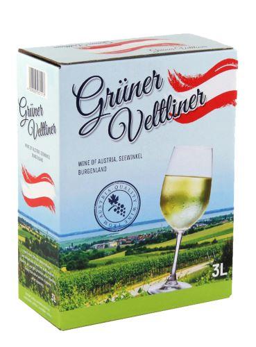 Grüner Veltliner, Bag in Box, Burgenland, 3 l
