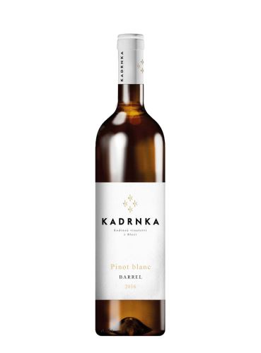 Pinot blanc, Barrel, Výběr z hroznů, 2016, Vinařství Kadrnka, 0.75l