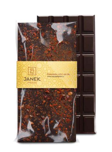 64% tmavá čokoláda s chilli, Čokoládovna Janek, 85 g