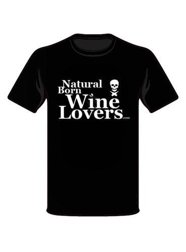 Triko Natural Born Wine Lovers - černé - velikost L - 1ks