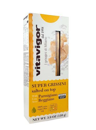Super Grissini se sýrem Parmigiano Reggiano - italské chlebové tyčinky,Vitavigor, 110 g