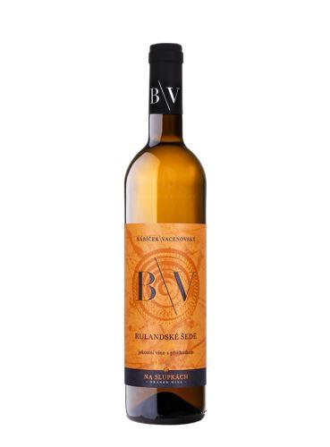 Rulandské šedé, Oranžové, Výběr z hroznů, 2018, Vinařství B/V, 0,75 l
