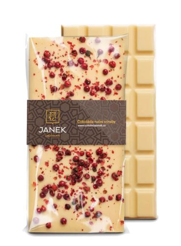 Bílá čokoláda s pepřem, Čokoládovna Janek, 85 g