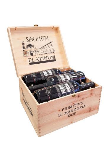 Primitivo di Manduria Since 1974 Platinum v dárkové bedně