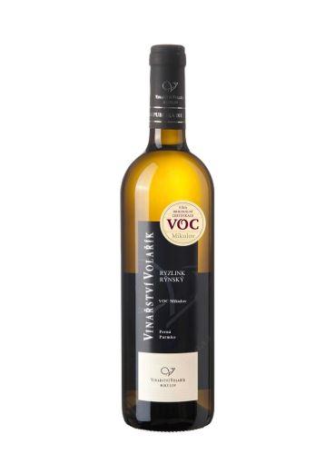 Ryzlink rýnský, Věstoňsko, VOC, 2019, Vinařství Volařík, 0.75l