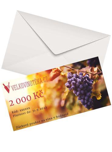Poukaz na víno  - 2 000 Kč