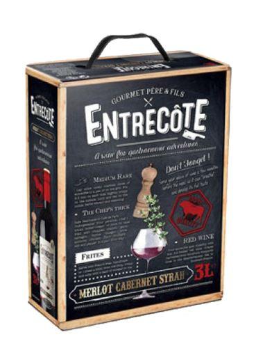 Cuvée Entrecote, Bag in Box, 2019, Gourmet Pére & Fils, 3 l