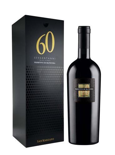 Primitivo di Manduria, 60 SESSANTANNI, Magnum, DOP, 2017, San Marzano, 1.5 l + dárkový box